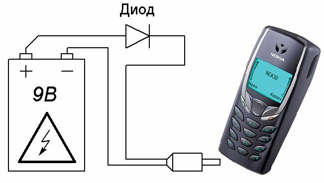 Зарядка от аккумулятора телефона своими руками